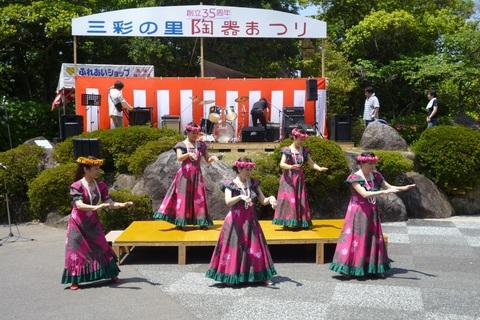 陶器祭り3日目ステージイベント フラダンス_a0246457_12572040.jpg