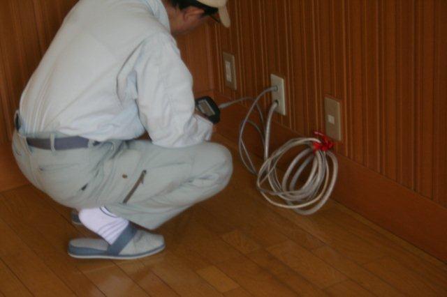 隠蔽配管エアコンと地デジアンテナ取付 その2(東京都世田谷区)_e0207151_19503879.jpg