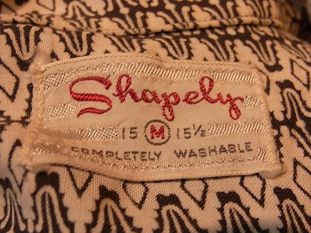 5月19日(土)入荷商品!50'S Shapely レーヨンシャツ!_c0144020_14324893.jpg