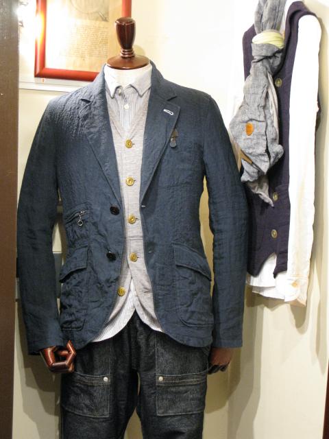 ◆Ramie Linen Rugged Jacket_e0142928_0182324.jpg