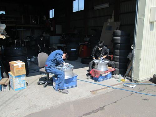 アルミホイール修理とパウダーコート  S・D-76  北海道札幌北広島_a0196542_2029598.jpg