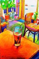 木版と色鉛筆とカリグラフィーのワークショップ_e0045977_19272354.jpg
