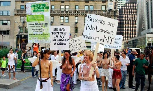 ニューヨークの街角にトップレス姿の女性が増えるかも???_b0007805_8331297.jpg