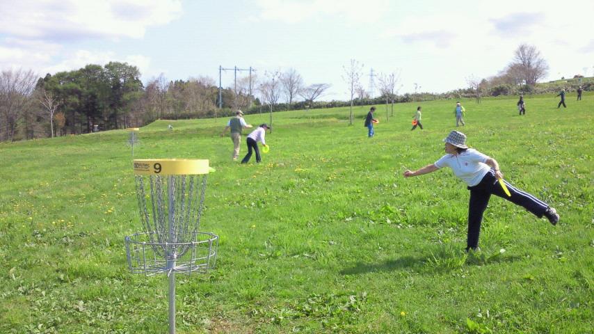 ディスクゴルフ体験会を実施_e0270550_14463089.jpg