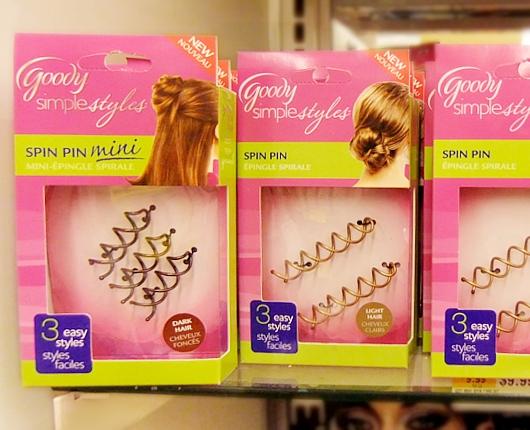 今アメリカで一番売れてるヘアー・アクセサリーはスピン・ピン Goody Simple Styles Spin Pin_b0007805_22414639.jpg