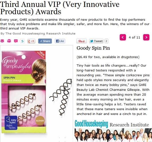 今アメリカで一番売れてるヘアー・アクセサリーはスピン・ピン Goody Simple Styles Spin Pin_b0007805_22424852.jpg