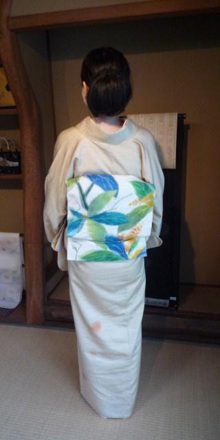着付けのお稽古の帰りのお客様の綺麗な着姿2_f0181251_1531953.jpg