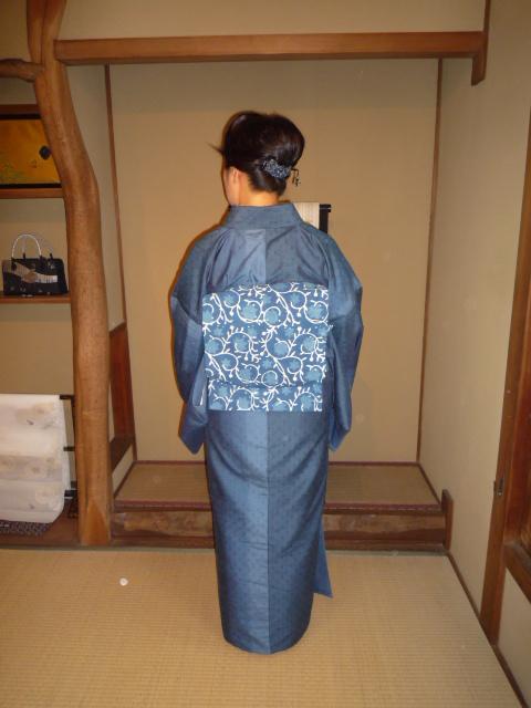 着付けのお稽古の帰りのお客様の綺麗な着姿2_f0181251_15384877.jpg