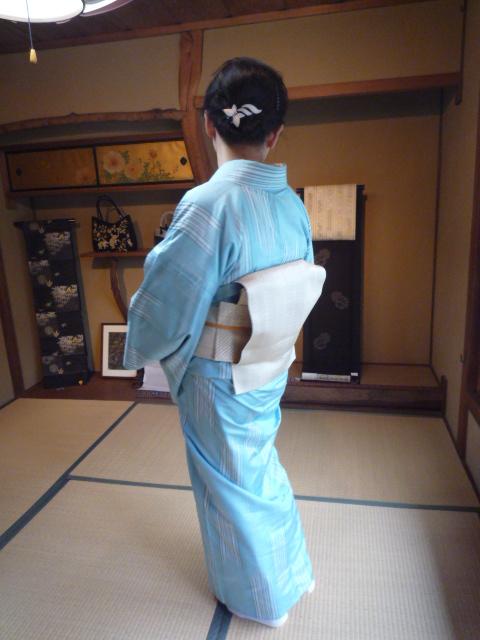 着付けのお稽古の帰りのお客様の綺麗な着姿2_f0181251_15505379.jpg