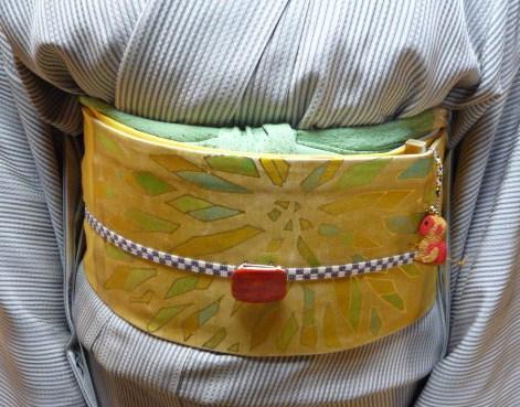 岡山からのお客様・三眠蚕の御召に素敵な帯。_f0181251_19463946.jpg
