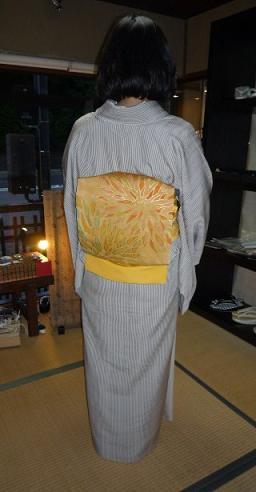 岡山からのお客様・三眠蚕の御召に素敵な帯。_f0181251_19532979.jpg
