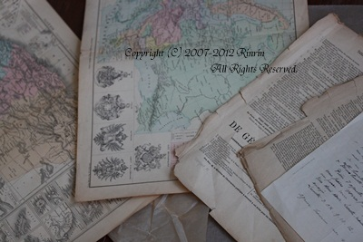 アンティークの紙たち・・・_e0237680_1835642.jpg