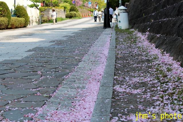 桜散る元町の散策と女神へのメッセージ_a0158797_23125745.jpg