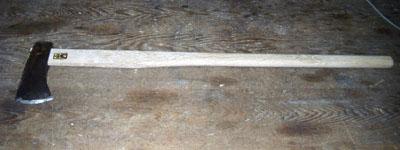 斧の柄を挿げる_c0081499_1219470.jpg