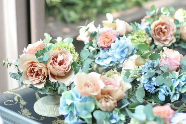 初夏の紅茶とブルーの装花 アンカシェット様へ_a0042928_2215047.jpg