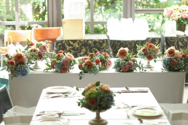 初夏の紅茶とブルーの装花 アンカシェット様へ_a0042928_2221038.jpg
