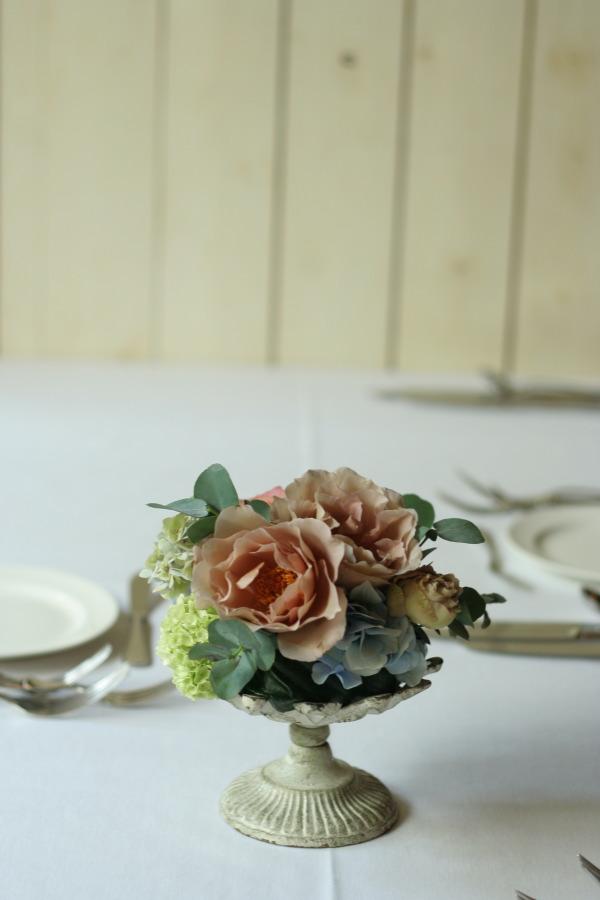 初夏の紅茶とブルーの装花 アンカシェット様へ_a0042928_2222655.jpg