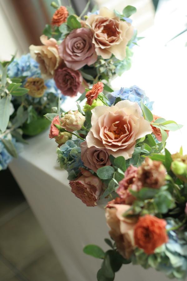 初夏の紅茶とブルーの装花 アンカシェット様へ_a0042928_22236.jpg