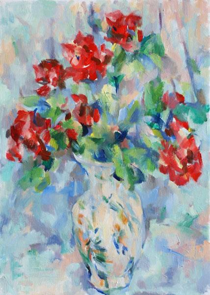 卓上のバラ(第二段階)_c0236929_22484195.jpg