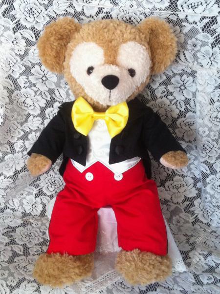 ダッフィーにミッキーコスの衣装作った_c0036138_192349.jpg