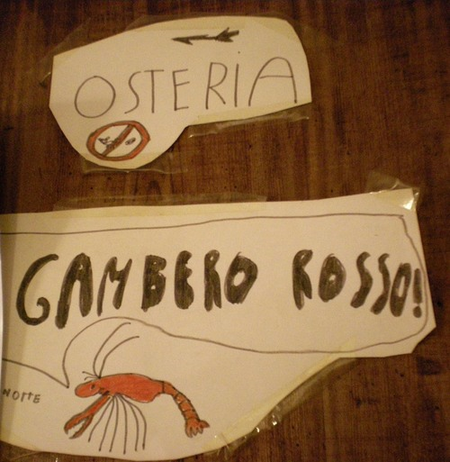 Osteria Gambero Rossoーーちびっ子シェフ達★_c0179785_7182793.jpg