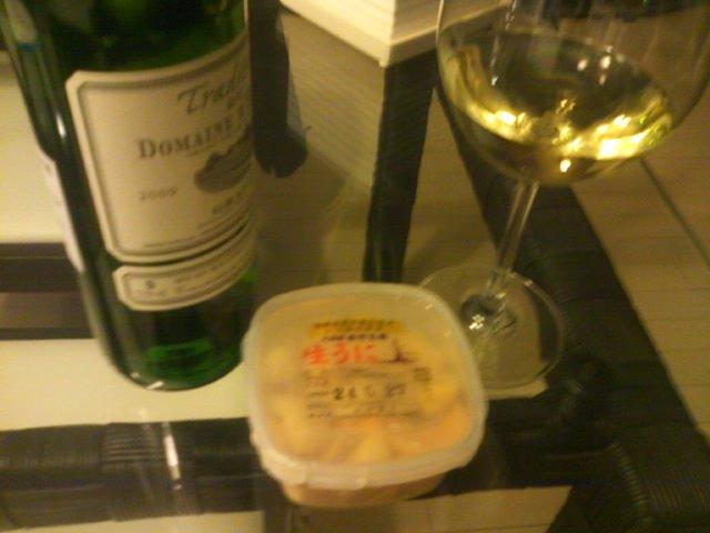 余市産ウニとワインで乾杯(^^)_b0127002_19263446.jpg