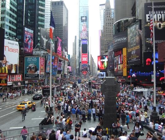 NYのタイムズ・スクエアからフリート・ウィークのイベント風景_b0007805_12485029.jpg