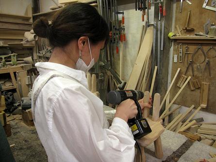 木工初心者コース「こねこ椅子組み立て」_e0072513_1027502.jpg