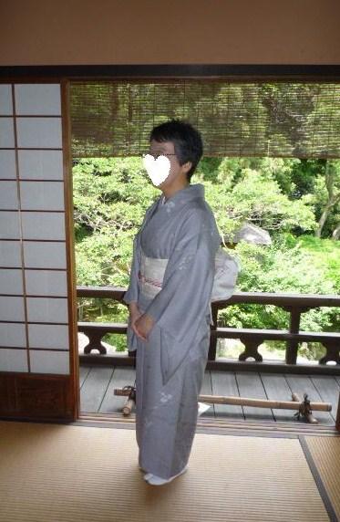 聞香会・鶴でお選び下さった帯のお客様の着姿。_f0181251_15594470.jpg