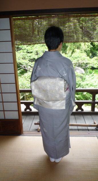 聞香会・鶴でお選び下さった帯のお客様の着姿。_f0181251_160653.jpg