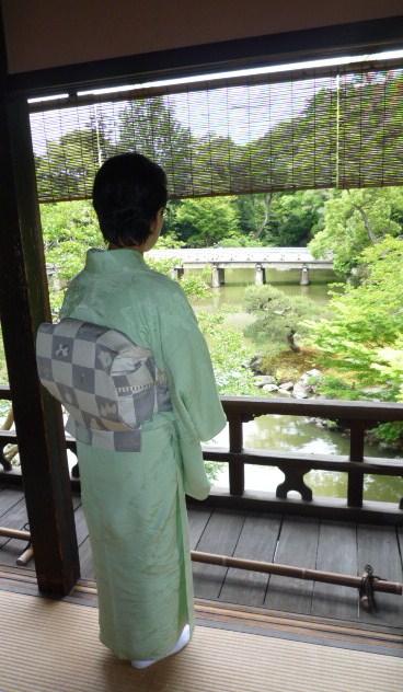 聞香会・鶴でお選び下さった帯のお客様の着姿。_f0181251_16115432.jpg