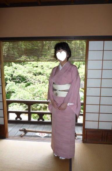 聞香会・鶴でお選び下さった帯のお客様の着姿。_f0181251_16141217.jpg