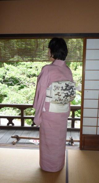 聞香会・鶴でお選び下さった帯のお客様の着姿。_f0181251_16143868.jpg