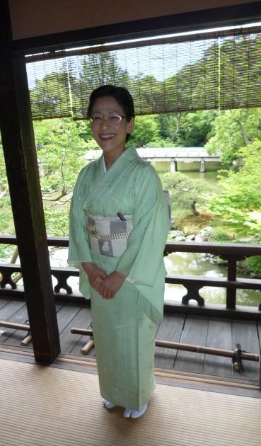 聞香会・鶴でお選び下さった帯のお客様の着姿。_f0181251_166195.jpg