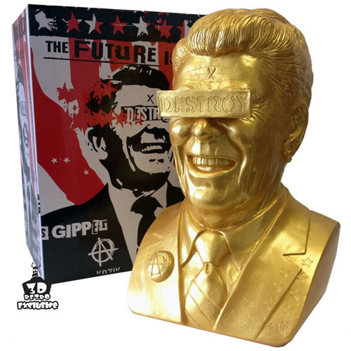 3DRetro Exclusive Gipper Reagan Bust in Gold_e0118156_21534065.jpg