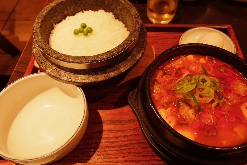 九品仏で奥様と熱い夜 韓国スンブド鍋 コチュ_f0050534_8133682.jpg