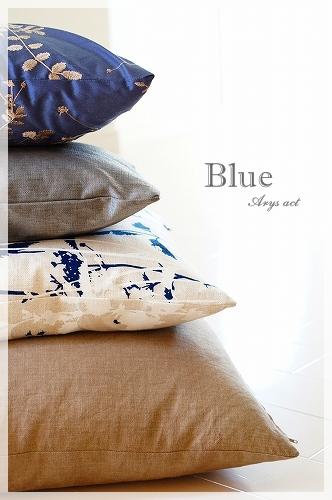 Blue 好きのクッション_c0243369_019556.jpg