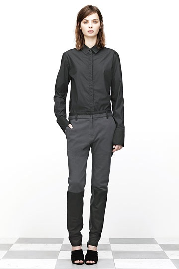 T by Alexander Wang Pique Oxford Combo Sweat Trouser Fossil_f0111683_117957.jpg