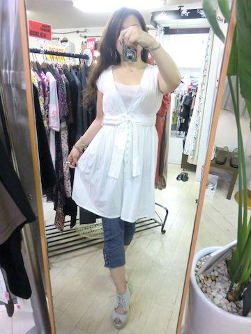 白のワンピ♪_a0159045_18241346.jpg