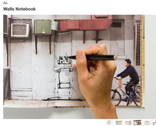 ニューヨークの壁に好きなだけ落書きができる本 Walls Notebook_b0007805_23595136.jpg