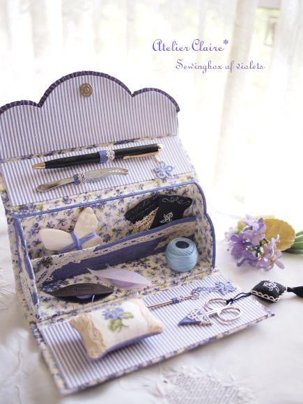 Sewingbox of violets完成しました♪_a0157409_8202843.jpg