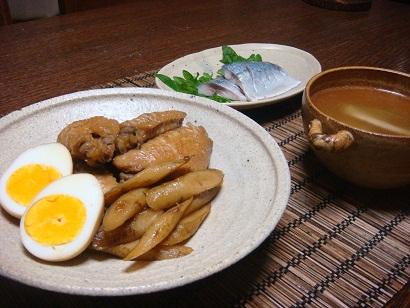鶏手羽と新ゴボウの梅煮_f0000925_2116331.jpg