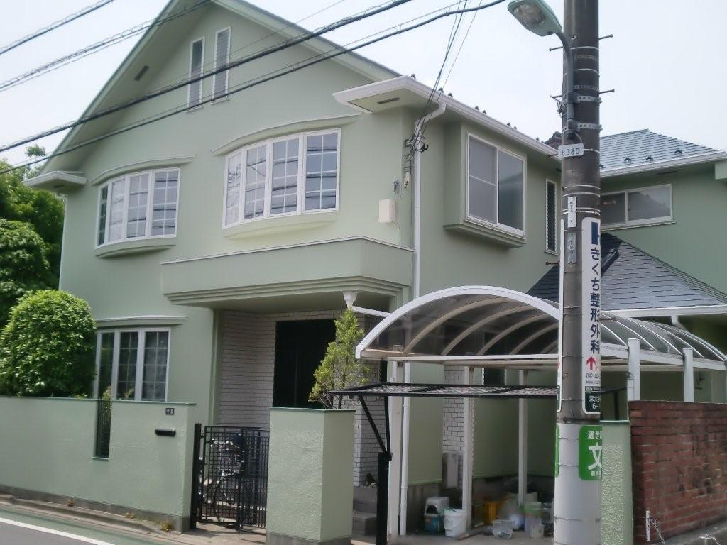 外壁 屋根塗装 が終了しました(東京都調布市)_e0207151_7562237.jpg