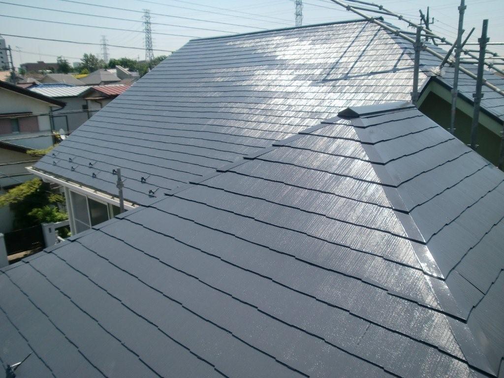 外壁 屋根塗装 が終了しました(東京都調布市)_e0207151_7562352.jpg