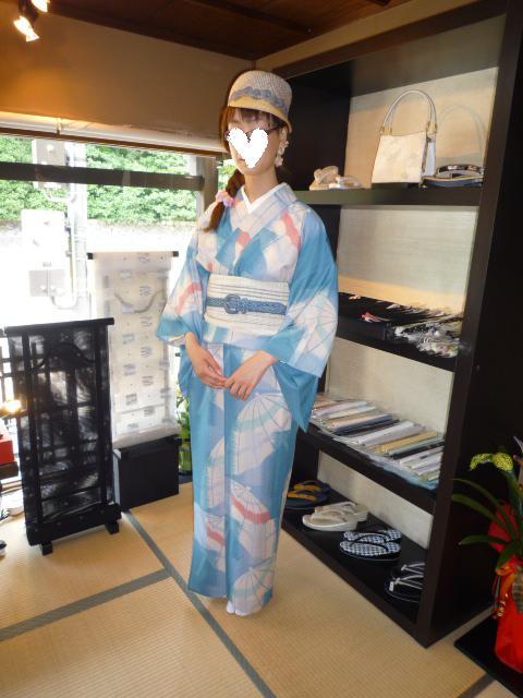 浅見の試作の夏襦袢・お洒落な東京からのお客様。_f0181251_16513827.jpg