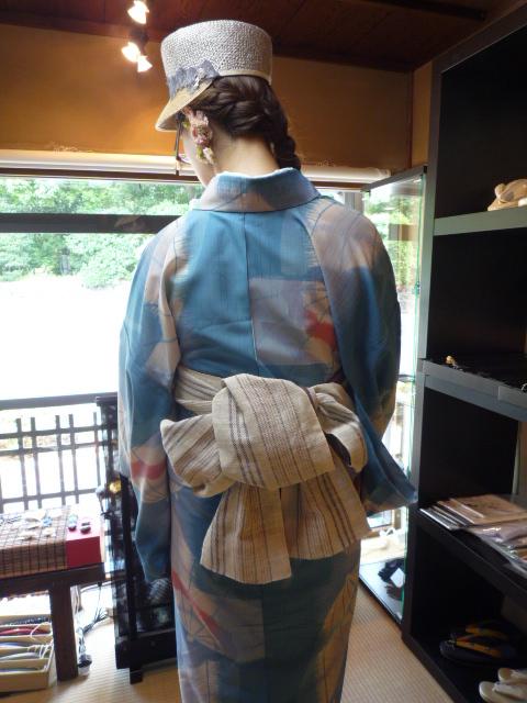 浅見の試作の夏襦袢・お洒落な東京からのお客様。_f0181251_1656491.jpg