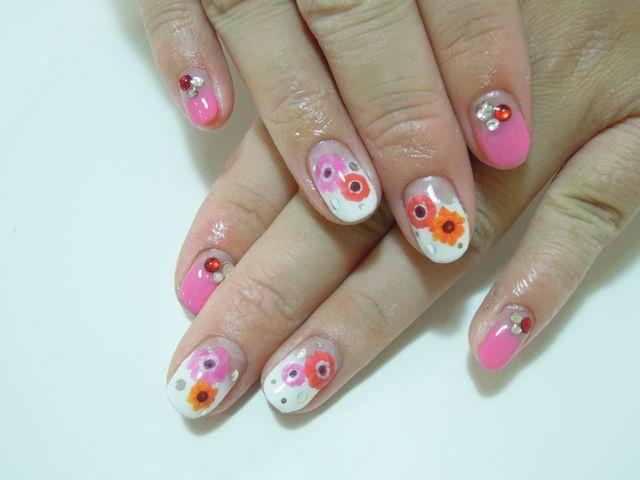 Pink Flower Nail_a0239065_18573770.jpg