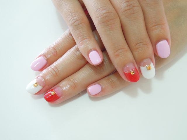 Red Pink Nail_a0239065_13211025.jpg
