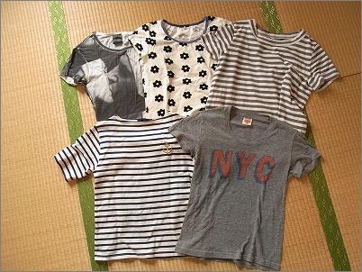 【 Tシャツの数と収納 】_c0199166_23385951.jpg