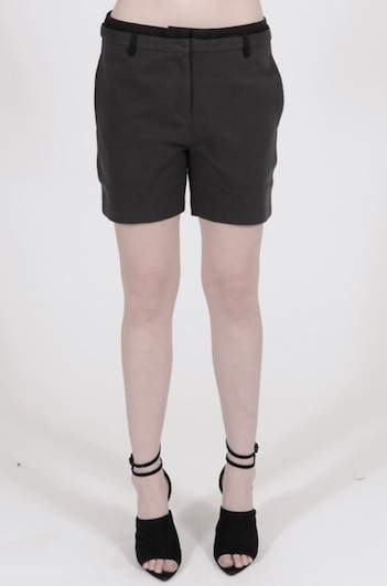T BY ALEXANDER WANG PIQUE OXFORD COMBO SWEATSHORTS FOSSIL_f0111683_13504988.jpg
